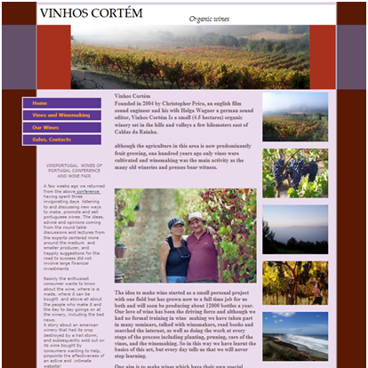 Old Vinhos Cortem Website